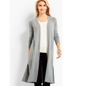 🎉 Talbots Open Front Duster Cardigan - Grey 🤍